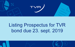 Listing prospectus for TVR bond due 23.Sept.2019